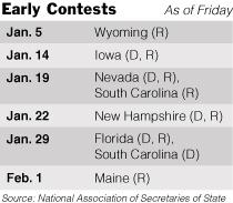 Early Contest Calendar