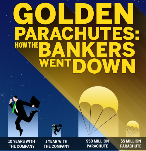golden parachutes A golden parachute is an agreement between a company and an employee (usually a high level executive) that provides significant financial benefits to the employee upon termination golden parachutes are meant to help companies hire and retain top talent at the same time, golden parachutes have.