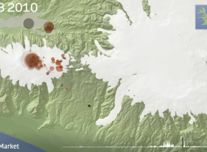 Animated map of Iceland earthquakes