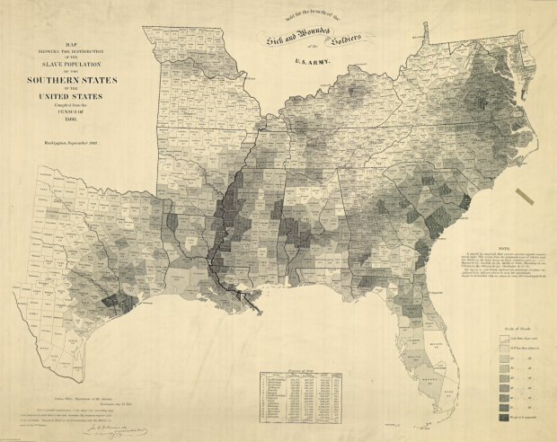 Chropleth map of Slavery in the US