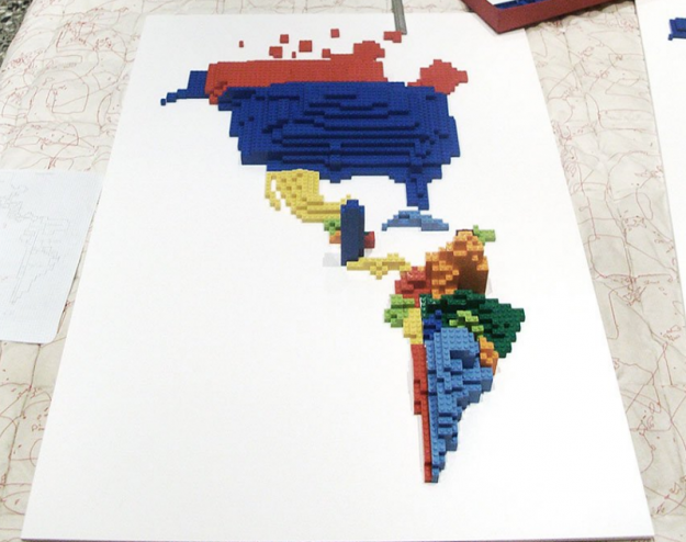 Immigrants to the United States via LEGO