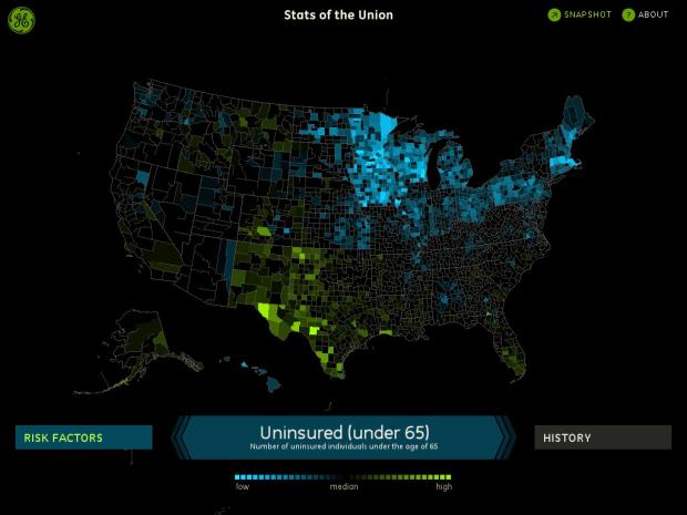 Uninsured under 65