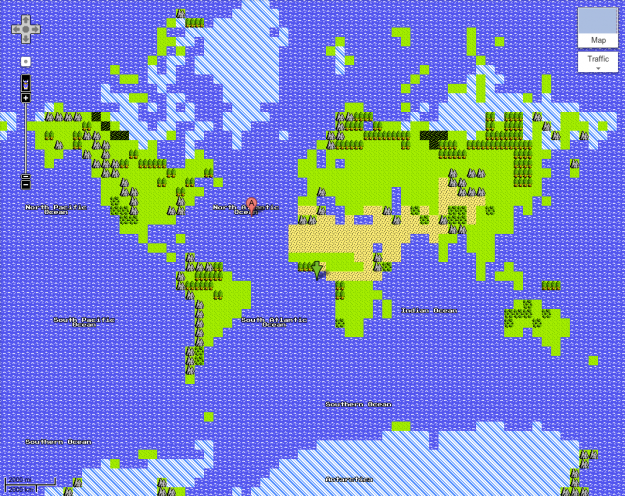 8-bit Google Maps, Start Your Quest