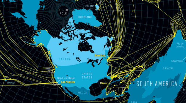 Nicolas Rapp, for Fortune Magazine, mapped the underwater cables that