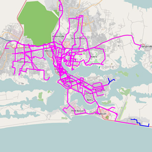 Transportation map by IBM