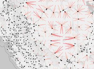 Line maps, Google Places API, and R