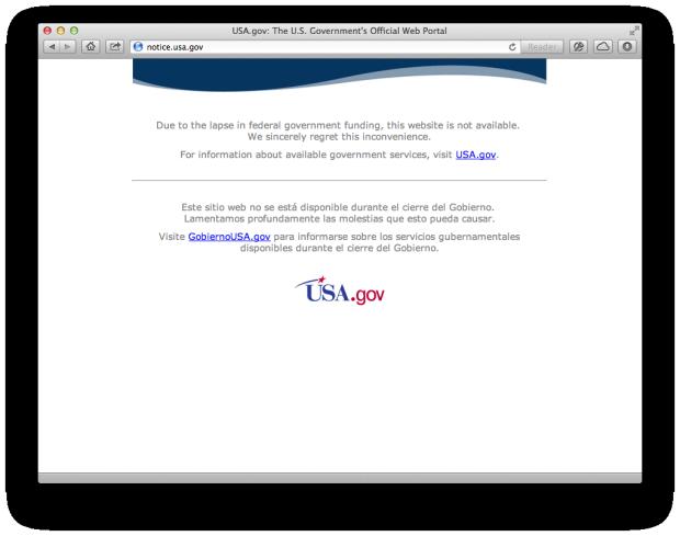 Census shutdown