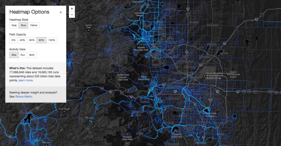 Strava cycling map