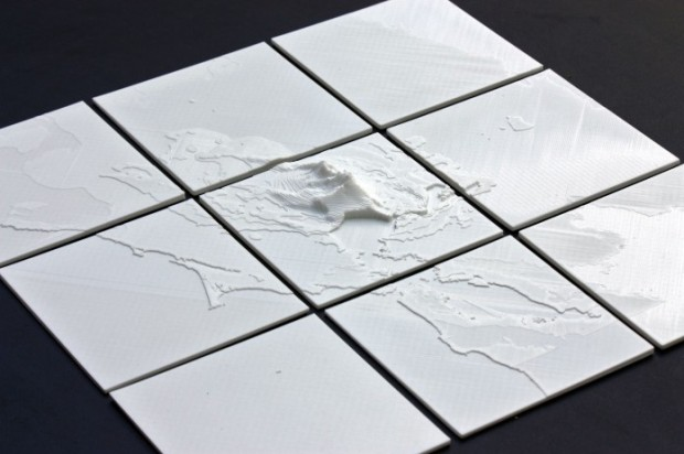 3d printed map data