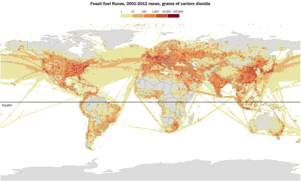 Fossil fuel fluxes
