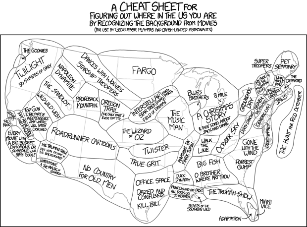 Movie scenery by xkcd