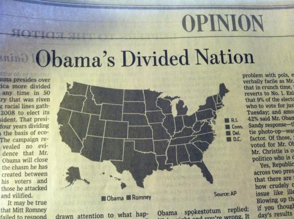 Divided nation