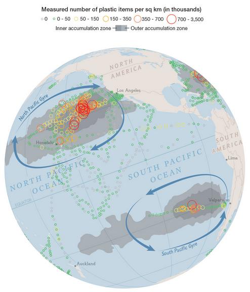 Extent of ocean plastic